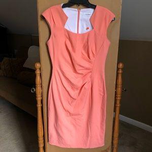 Calvin Klein Fitted Dress - Peach